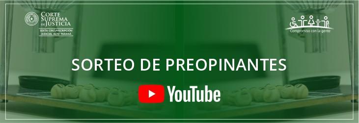Canales de YouTube de las Cámaras de Apelación de la VI Circunscripción Judicial