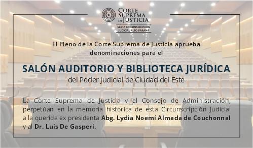 Decisiones de la Corte Sobre Denominaciones